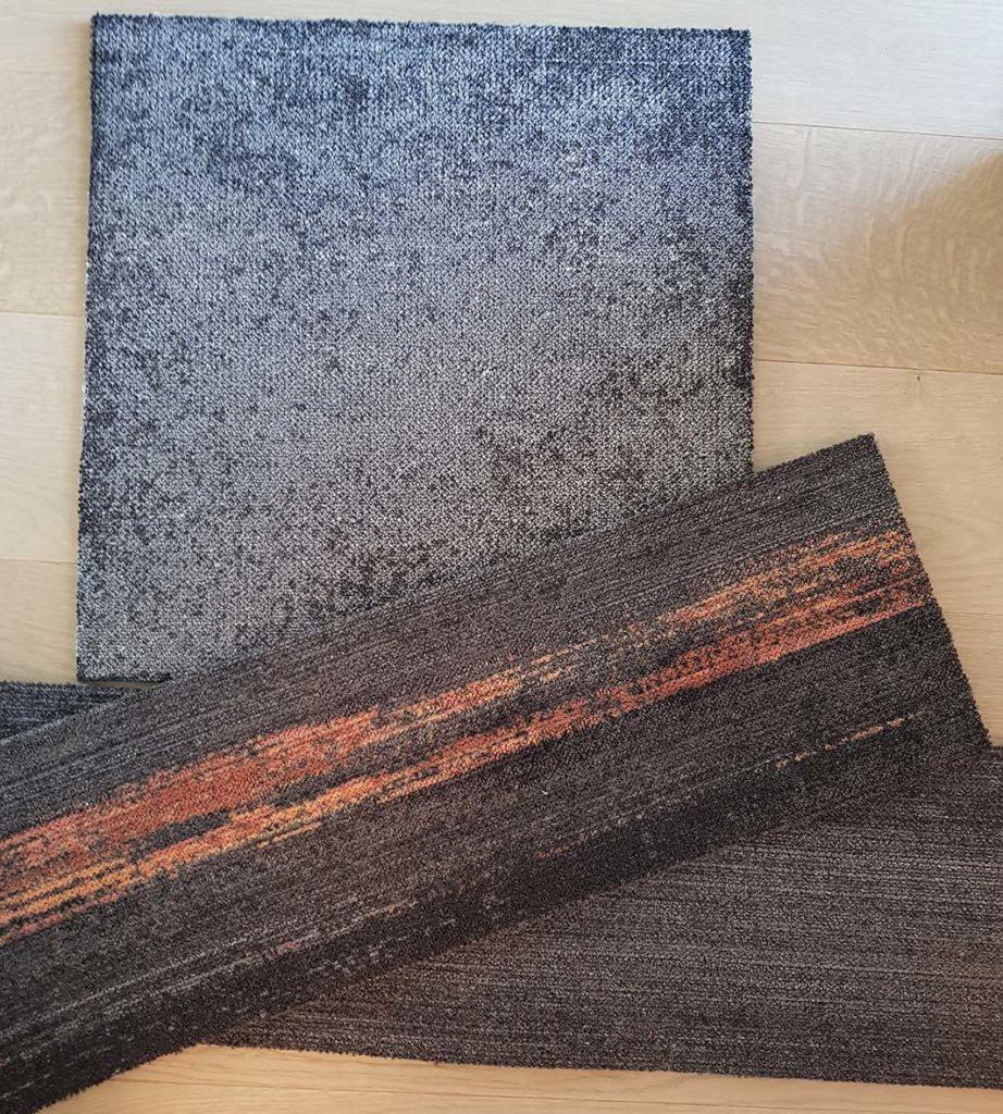 Kuvassa on tekstiililaattoja.